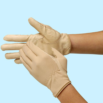 Pig Leather Gloves Beige