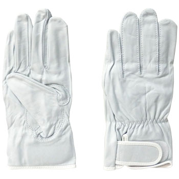 Japanese Cattle Crest Gloves White