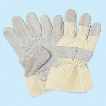 Canvas Leather Gloves