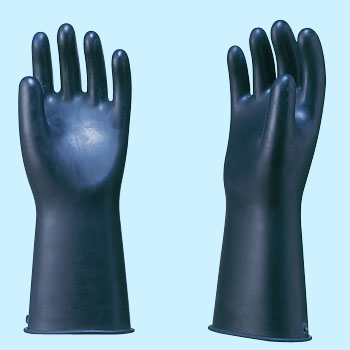 Industrial Gloves Black Front Large Thick