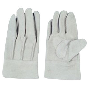 Split Leather Gloves With A Back Seam