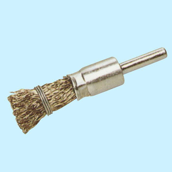 Self clench, stainless steel axis, sealed brush