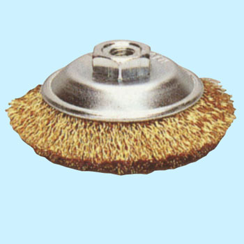 Steel-wire plating wire bevel brush