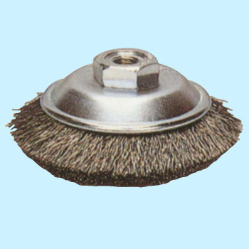 Steel-wire bevel brush