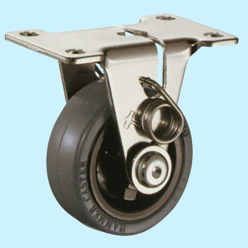 Castor With Self-Braking, Plate System/Rigid Caster
