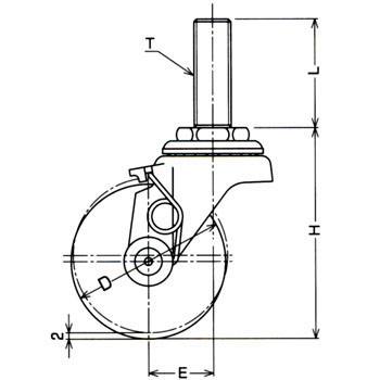 Threaded Swivel Caster