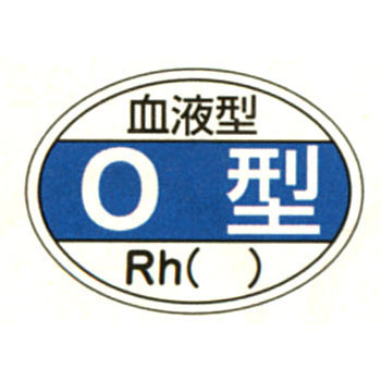 The Sticker for Helmet Shields, Blood Type