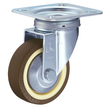 400S Swivel Caster, Nylon Wheel Urethane Rolling, With B, Wheel,
