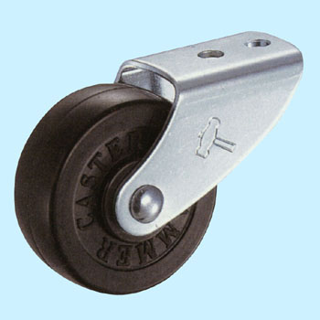 155 Rigid Caster, Rubber Wheel