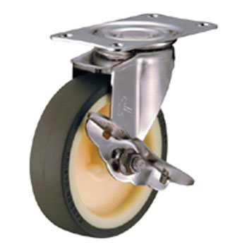 Stainless Steel 315E Swivel Caster Nylon Wheel, Urethane Wheel