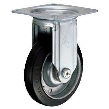 400RSP Rigid Caster, Rubber Wheel,