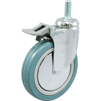 Hammer Caster 915MA Swivel Caster Rubber B Bearing, Total Lock
