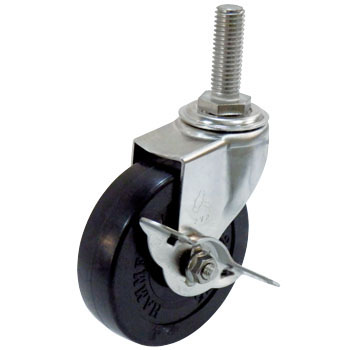 Stainless Steel 315EA A Swivel Caster, Rubber Wheel, with Stopper