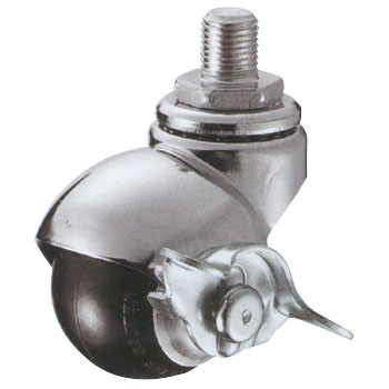 405/15A Swivel Caster, Rubber Car, With Stopper