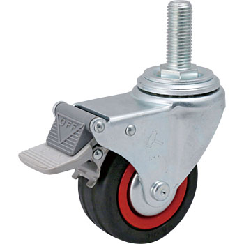 415MA, Swivel Caster, Rubber Wheel, Total Lock