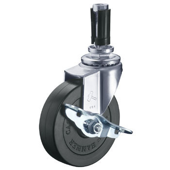 415EU Swivel Caster, Rubber Wheel, with Brake