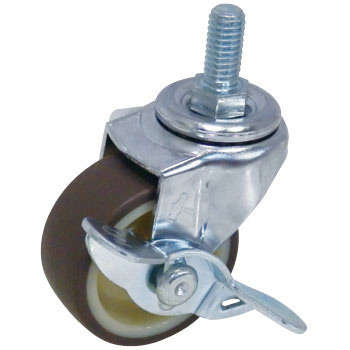 Screw Type 415A Swivel Caster with Brake, Urethane Wheel