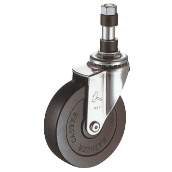 420EX Swivel Caster, Rubber Wheel