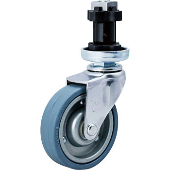 420EN Swivel Caster, Sheet Iron Wheel, Rubber Wheel