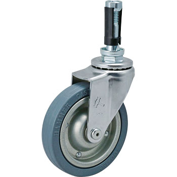 420EN Swivel Caster, Steel/ Rubber Wheel