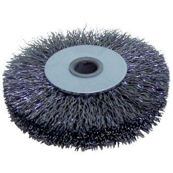 Steel-wire pressed wheel brush