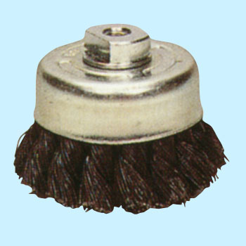 Steel-wire twist cap brush