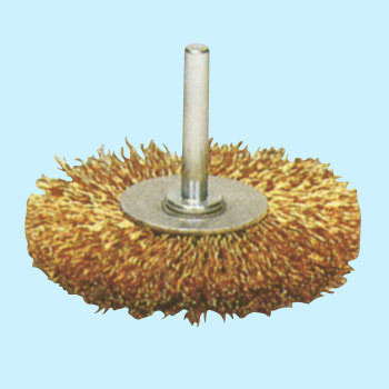 Steel wire plating wire mounted wheel brush
