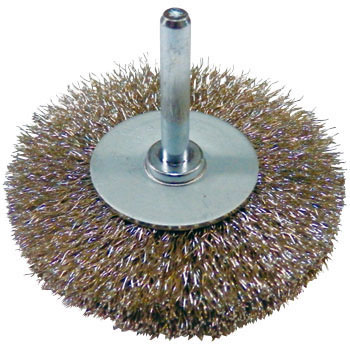 SUS304 wheel brush with stainless exis
