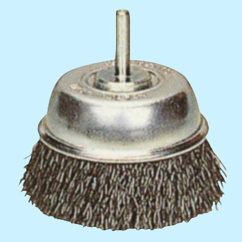 0.3 Cup Brush with Steel-Wire Axis