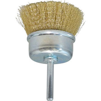 A cup brush with true brass