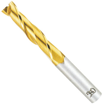 2 Flute Medium End Mills(Tin-Coated)