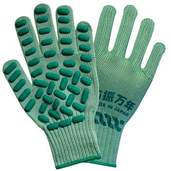 Antivibration Rubber Gloves, Natural Rubber