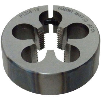 Adjustable dies for pipe taper threads