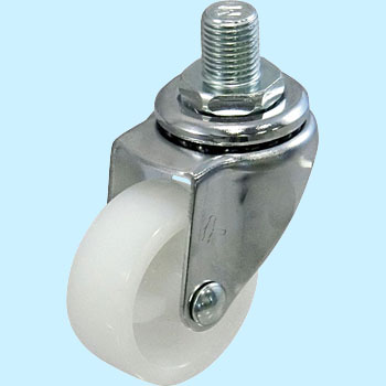 Threaded Type 420Ea Swivel Caster, Nylon Solid Wheel