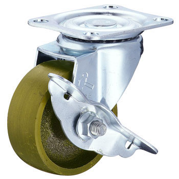 413S Swivel Caster, Cast Metal, With Stopper