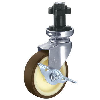 415EN Swivel Caster, Urethane Vehicle, With Stopper