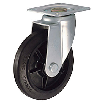 420BBS Swivel Caster, Nylon, Rubber Wheel B