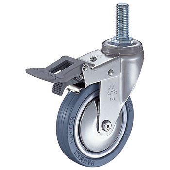 915EA Swivel Caster, Rubber Wheel, With Total Lock