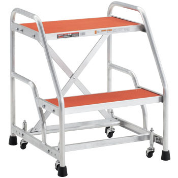Aluminum Work Step Stool, Caster