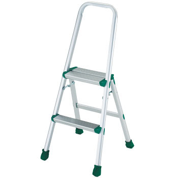 Aluminum Stepstool with Frame, 2 Rung