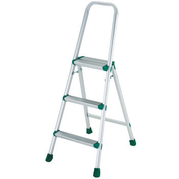Aluminum Stepstool with Frame, 3 Rung