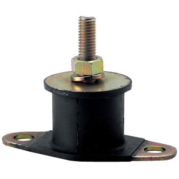 Round Type Rubber Vibration Isolator, One Side Washer Type
