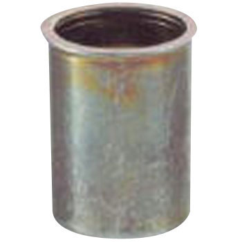 Crimped Nut, Steel, Thin Head