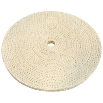 Stacked sisal buff (for metal finishing and polishing)