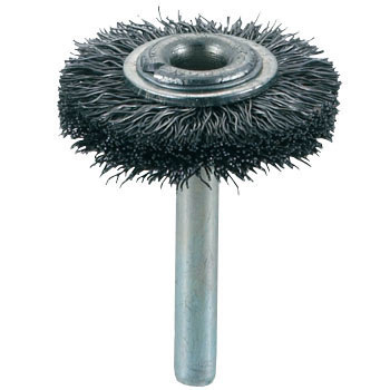 Shank Mounted Wheel Brush, Hard Steel Wire