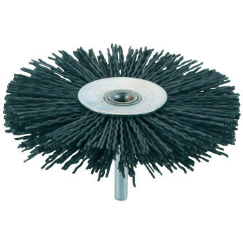 Shank Mounted Wheel Brush, Abrasive Particle
