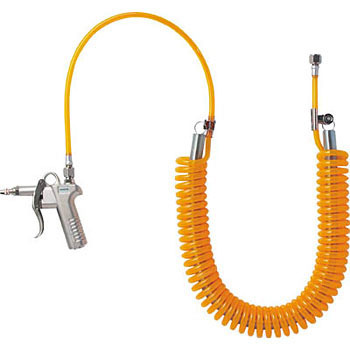 Spring Urethane Coil Hose with Air Gun Set