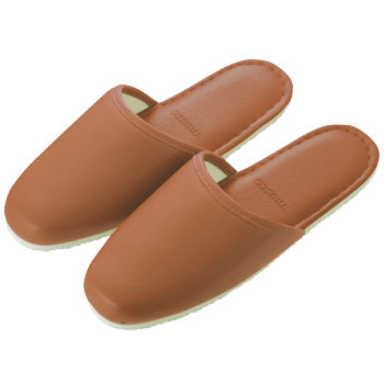 Vinyl Slippers, Brown
