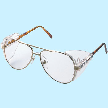 Two Lens Type Metal Frame Safety Glasses