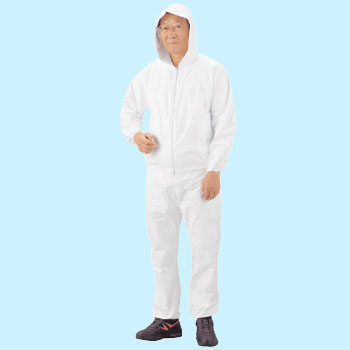 Tyvek Protective Clothing, Two Piece Outfit With Hood, Top And Bottom Set